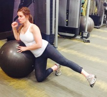 Stability Ball Leaning Hip Abductions